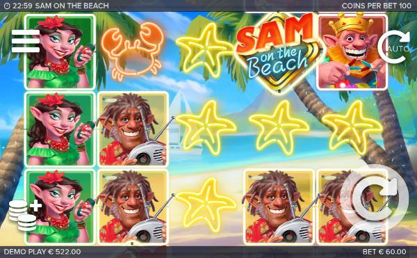 Играй в шикарном игровом автомате Sam on the Beach в онлайн казино Вулкан Гранд