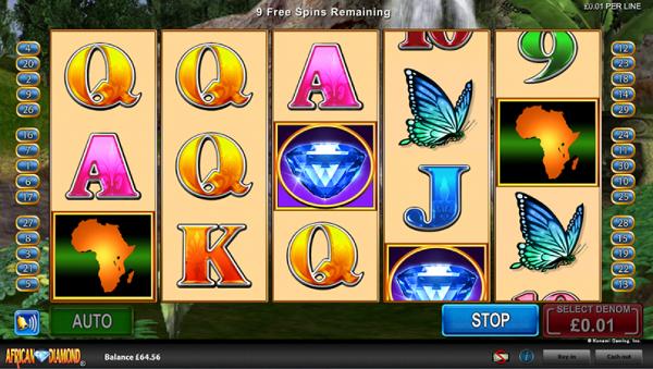 Игровой автомат African Diamond - бриллиантовая жила для игроков казино Вулкан