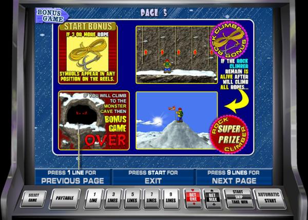 Игровой автомат Rock Climber - большие выигрыши для игроков казино клуб Вулкан