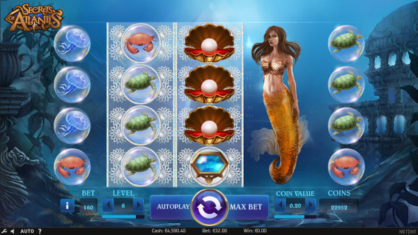 Игровой автомат Secrets of Atlantis - регулярные выигрыши в онлайн казино Вулкан 24