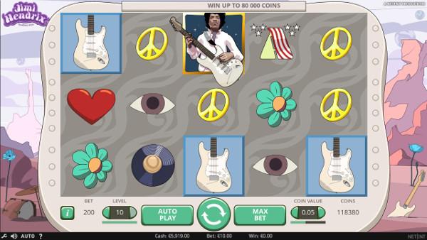 В щедром автомате Jimi Hendrix играй в казино Вулкан Старс - легальное казино с лицензией
